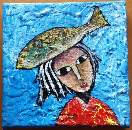 The woman with a fish